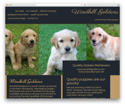 WordPress theme Callaway - windhillgoldens.com