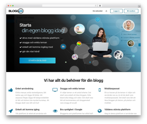 aardvark WP theme - blogg24.se