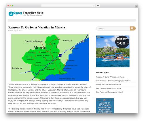 Blog Writer WordPress travel theme - gypsytravellerhelp.org