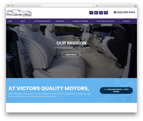 Carshire template WordPress - victorsautorepair.com