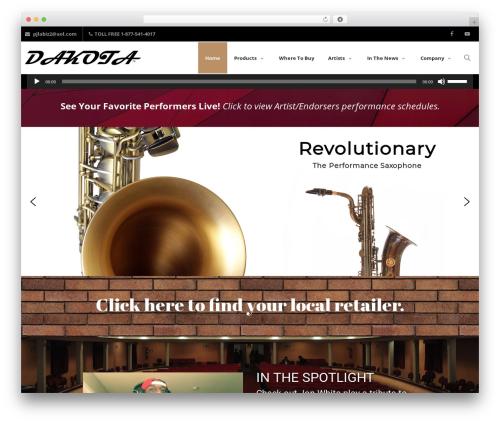 Creativo Theme theme WordPress - saxdakota.com