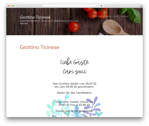 Food Express free WordPress theme - grottinoticinese.ch