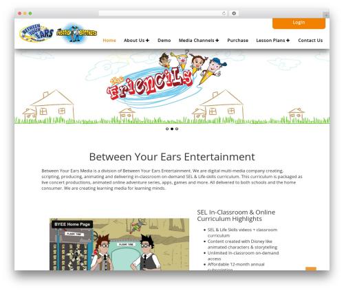 HealthCare best WordPress template - betweenyourearsmedia.com
