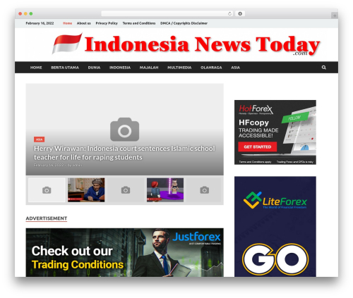 HitMag Pro WordPress news template - indonesianewstoday.com