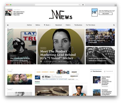 MagPlus newspaper WordPress theme - neezienews.com
