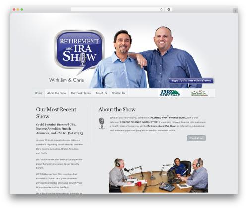 Minimal best WordPress template - retirementandirashow.com