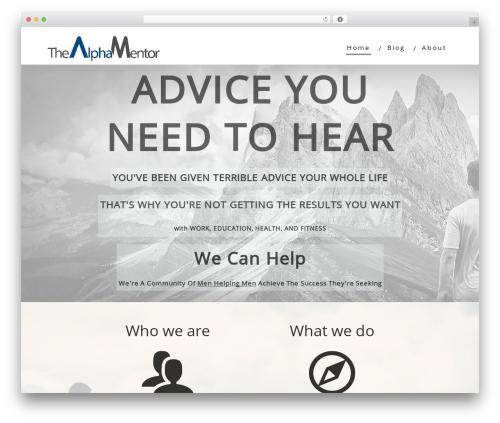 Minus WordPress theme - thealphamentor.com