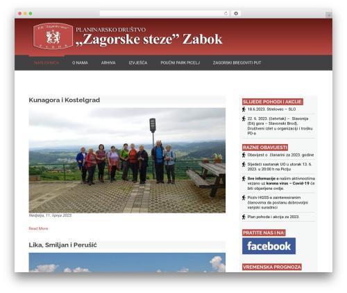 Nuptial WordPress theme - pd-zagorske-steze.hr