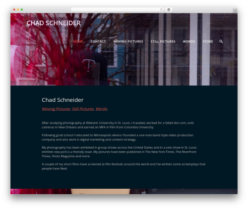 Parallax Frame template WordPress free - chadschneider.com