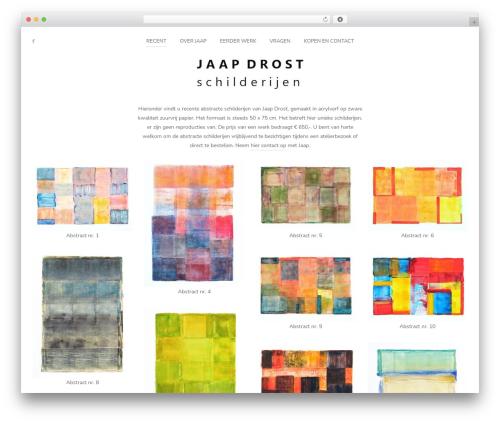 Pinhole best WordPress theme - jaapdrost.com