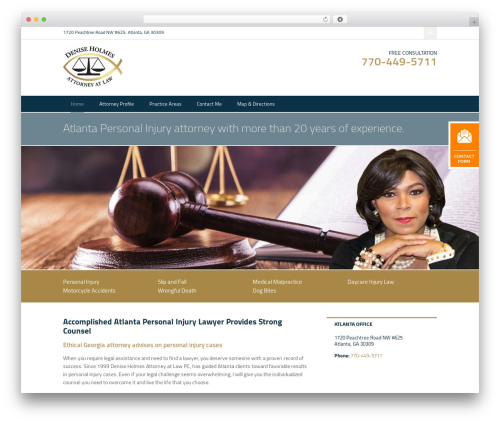 Project X v16 WordPress template for business - attorneydeniseholmes.com