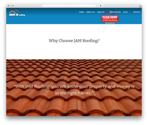 Roofing company WordPress theme - jamroofing.net