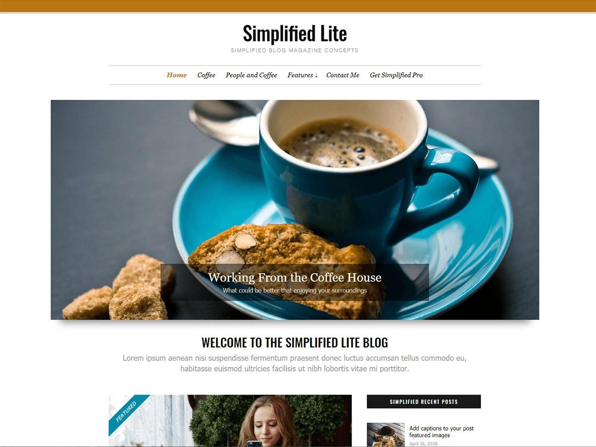 Simplified Lite fashion WordPress theme