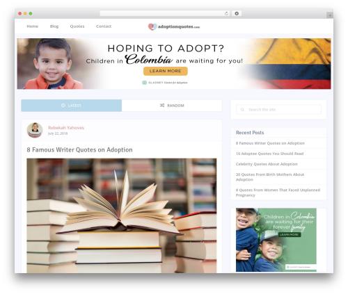 socialMe by MyThemeShop WordPress shopping theme - adoptionquotes.com