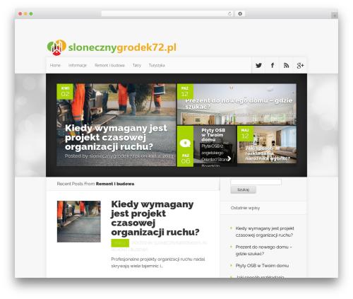 Theme WordPress Nexus - slonecznygrodek72.pl