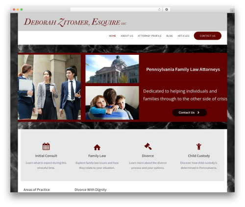 upScale WordPress template for business - zitomerlaw.com