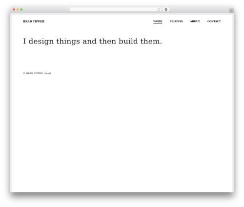 WordPress theme Pro - bradtipper.com