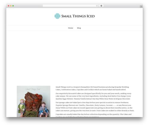 WordPress website template Holland - smallthingsiced.co.uk