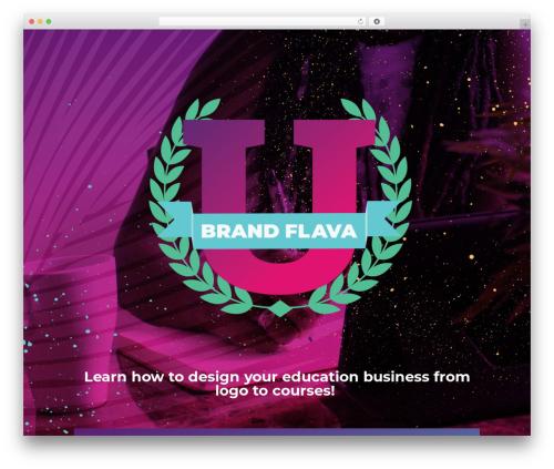 WP theme Divi - brandflavauniversity.com
