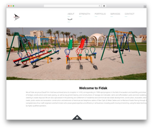 Arkitekt WordPress theme - fidakcom.com