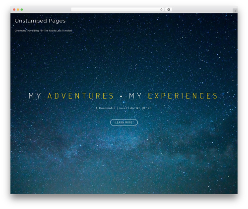BeOnePage free website theme - unstampedpages.com