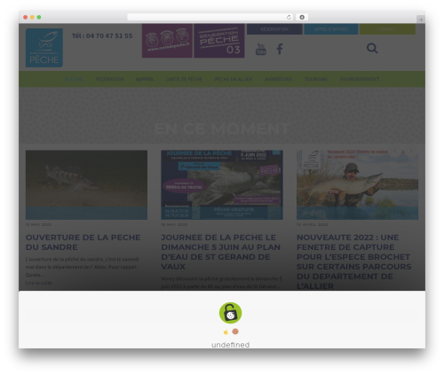 Best WordPress template Eco Press - federation-peche-allier.fr