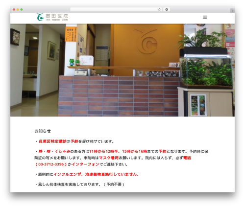 Best WordPress template White Room - yosida-iin.com