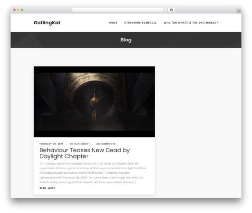 Best WordPress template Wpxon Blog - gatlingkat.com