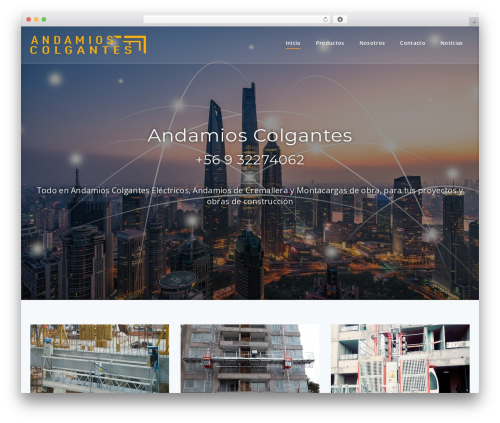 Best WordPress theme Parallel - andamioscolgantes.cl