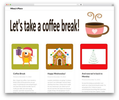 Blogrid WordPress template - terrormom.com