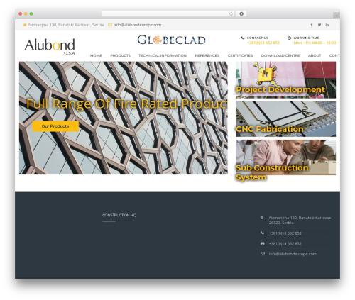 BuilderPress WordPress theme - alubondeurope.com