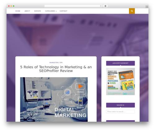 Bulan WordPress template for business - ecombuffet.com