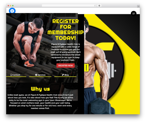 ClubFitness free WordPress theme - figurenfysique.com