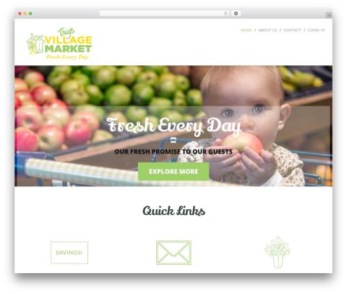 Cream Child Theme WordPress theme design - trigsvillagemarket.com