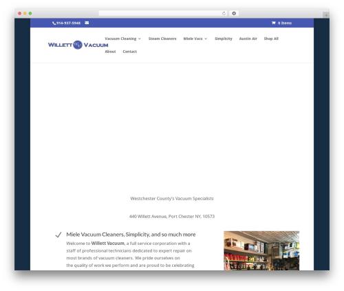 Divi WordPress theme - willettvacuumny.com