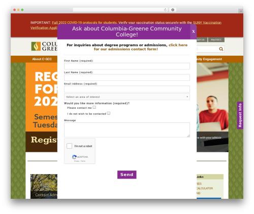 WordPress slick-popup-pro plugin - sunycgcc.edu