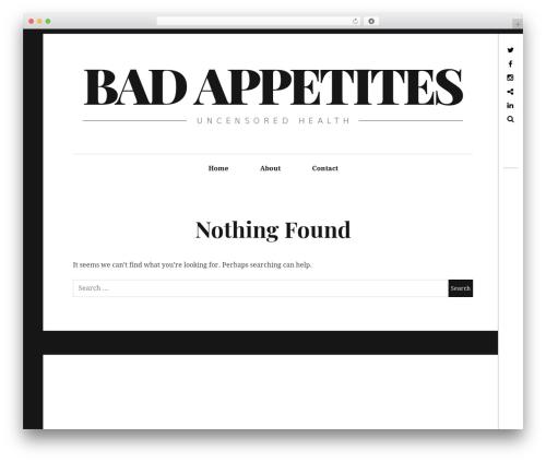 Hive WordPress page template - badappetites.com