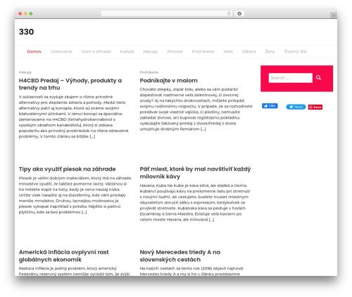 Lifestyle Magazine best WordPress magazine theme - 330.sk