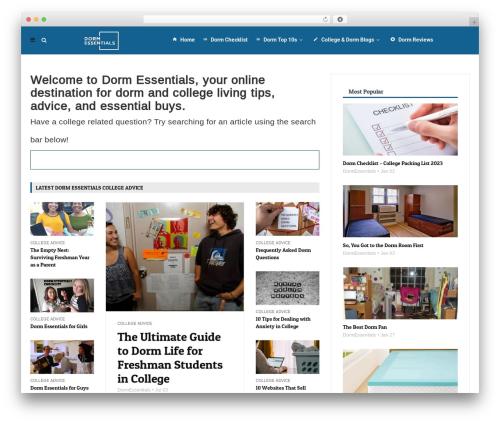 MagPlus premium WordPress theme - dormessentials.com