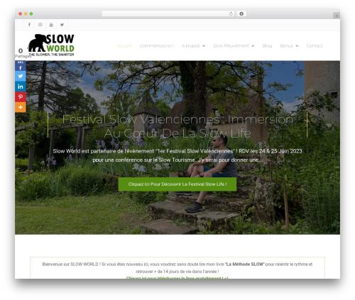 Nature Bliss WordPress free download - slow-world.com