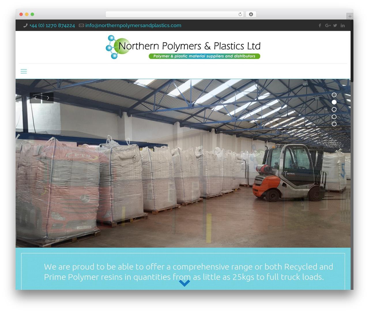 Northern Polymers and Plastics Ltd. WordPress template - northernpolymersandplastics.com
