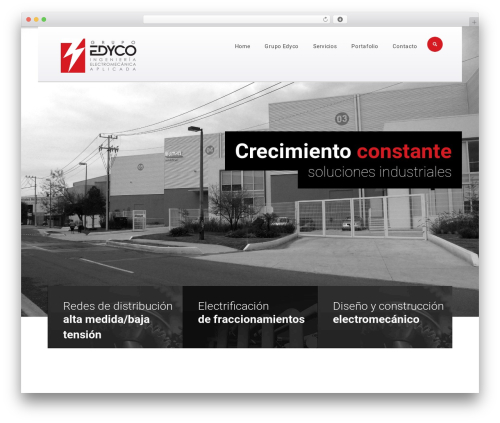 Optima WordPress theme design - grupoedyco.com