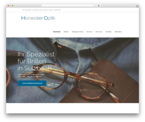 Optometry WordPress theme - honecker-optik.com