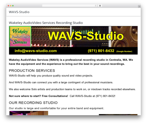 Parallel WordPress movie theme - wavs-studio.com