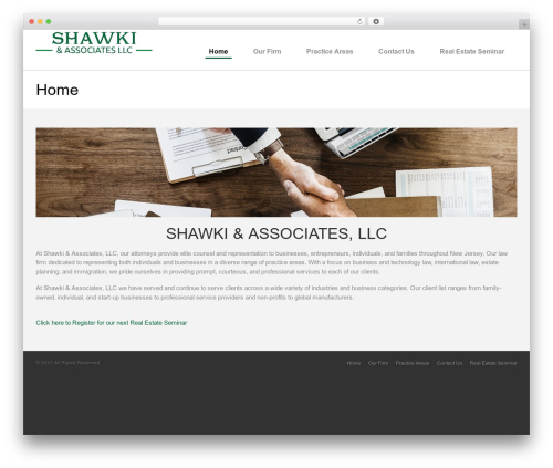 Sensica theme WordPress - shawkilaw.com