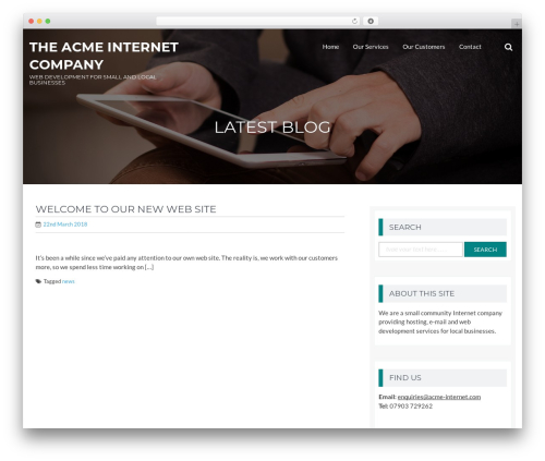 Template WordPress BizPlus - acme-internet.com