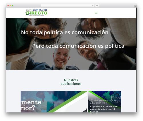 Theme WordPress Betheme - concontactodirecto.com
