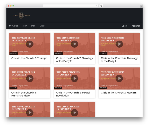 VidoRev WordPress theme - strongpriest.com