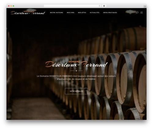 Vino WordPress theme - desertaux-ferrand.com