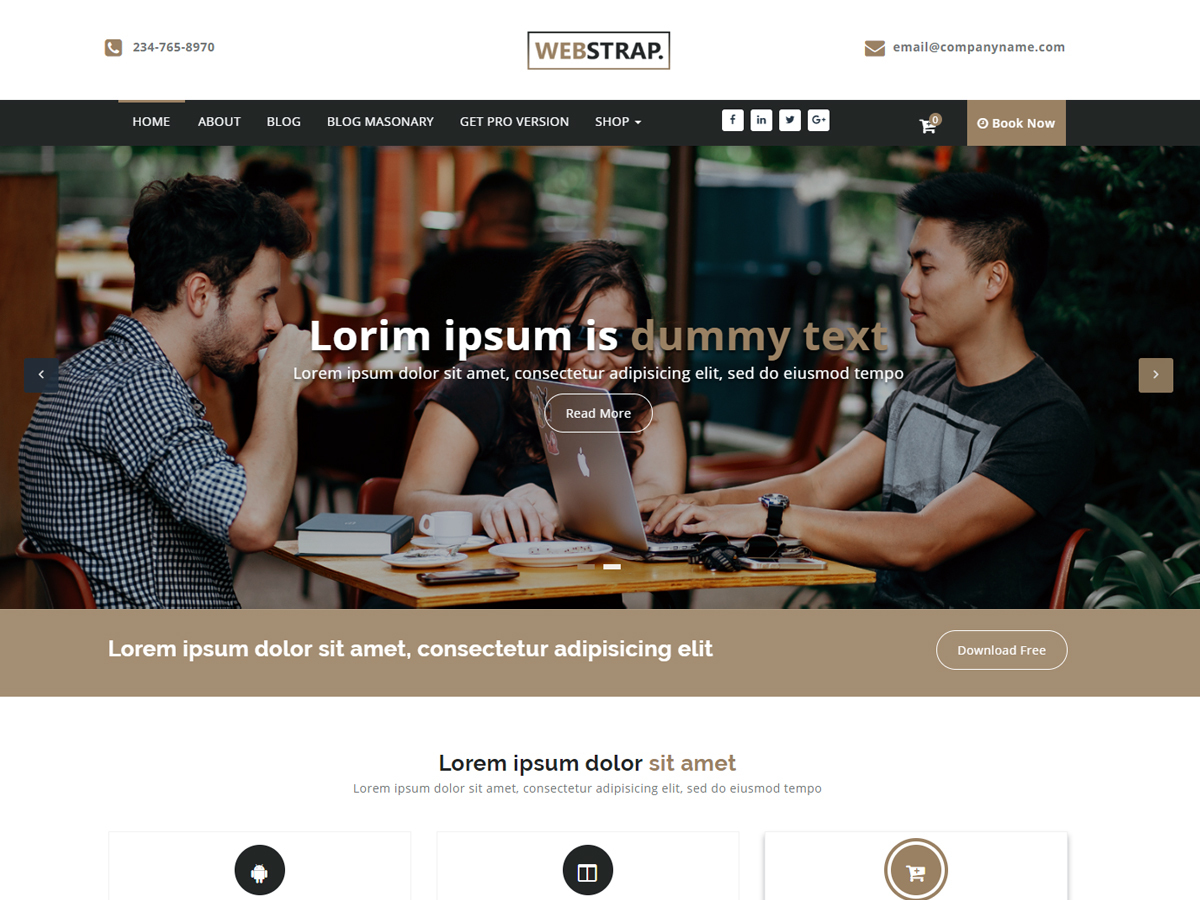 Webstrap WordPress store theme